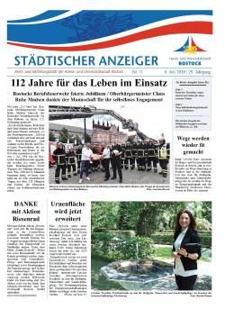 """Titelseite Ausgabe Nr. 7/2020 des Rostocker Amts- und Mitteilungsblatts """"Städtischer Anzeiger"""""""