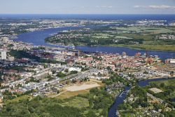 Aerial view City of Rostock