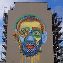 Various & Gould: Face Time, 2015, mural, Berlin